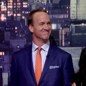 Denver Broncos QB Peyton Manning says what to David Letterman?