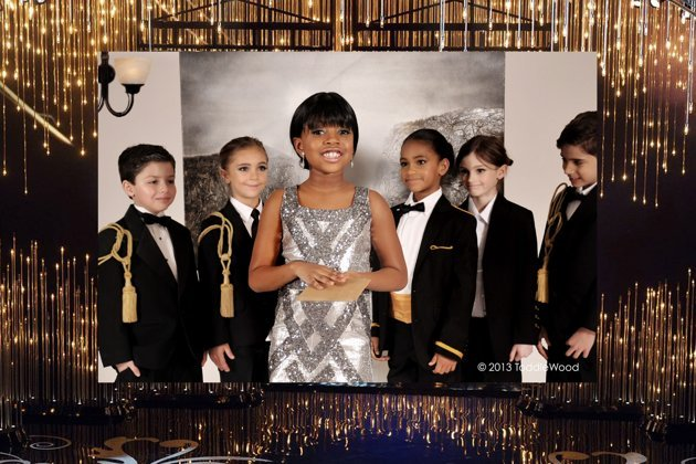 Oscars turned toddler-sized - Michelle Obama