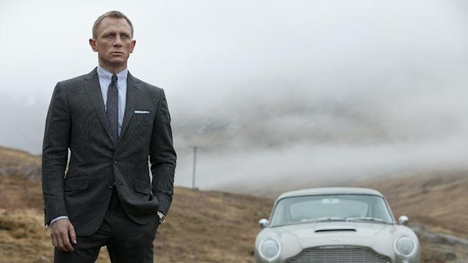 "This film image released by Columbia Pictures shows Daniel Craig as James Bond in the action adventure film, ""Skyfall.""  Every year fashion offers up the good, the bad and the ugly. But what the industry is really built on _ and consumers respond to _ is buzz. Craig's wardrobe in ""Skyfall"" is impeccably tailored and quite tight. Unlike the James Bonds that came before him who all liked the traditional looser, longer cut of a Savile Row-style suit, Craig, whose wardrobe is created mostly by Tom Ford, takes his suits Euro style with tapered legs and shorter rises. (AP Photo/Sony Pictures, Francois Duhamel)"