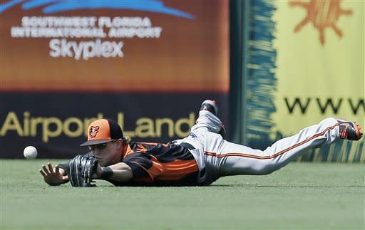 Markakis back for O's, Twins' Hendriks hit by ball