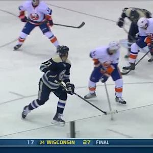 Brandon Dubinsky shovels in the backhander