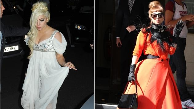 Lady Gaga spotted in London on September 8 and 9, 2012 -- Getty Premium