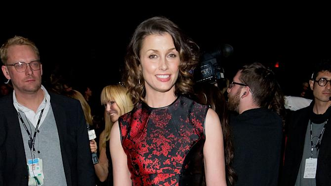 Actress Bridget Moynahan attends the Fall 2013 Monique Lhuillier Runway Show, on Saturday, Feb., 9, 2013 in New York. (Photo by Ben Hider/Invision/AP)