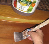 Eliminate antique dresser odor with vinegar