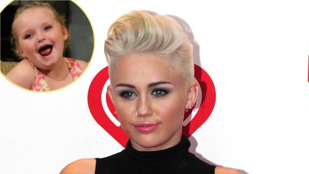 Miley Cyrus, inset: Alana Thompson -- Access Hollywood / Getty Images
