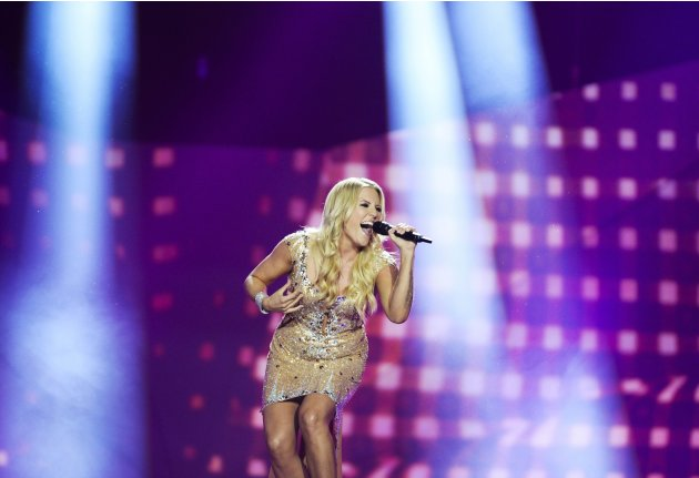 Cascada of Germany performs during the final of the 2013 Eurovision Song Contest in Malmo