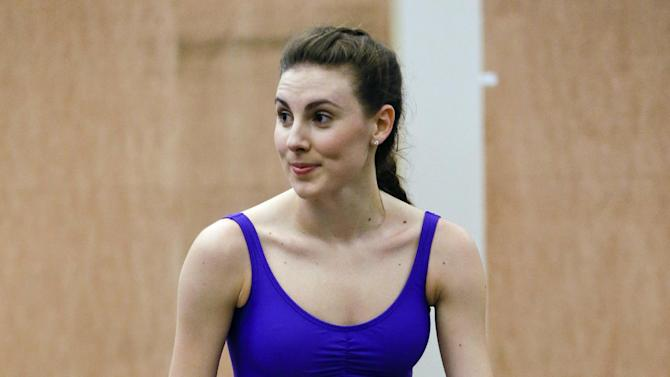 "In this Monday, Oct. 6, 2014 photo, dancer Tiler Peck waits to perform during a dress rehearsal for the musical production ""Little Dancer,"" in New York. The $7 million Kennedy Center musical opens Saturday, Oct. 25, for previews and runs through Nov. 20, in Washington. (AP Photo/Frank Franklin II)"