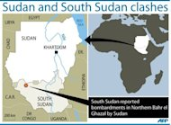 South Sudan said Monday Sudanese war planes and artillery had bombarded its territory on the eve of peace talks, as Southern officials set set off to attend African Union-led negotiations in Ethiopia