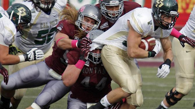 After late TD, Montana beats Cal Poly in OT, 21-14