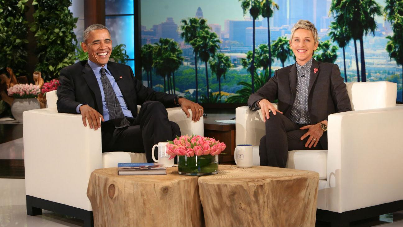 President Obama Visits L.A.; Drops by 'Ellen' But No Dancing This Time