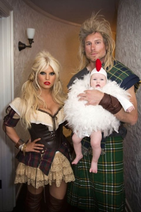 Jessica Simpson, fiance Eric Johnson and their daughter Maxwell went all out for Halloween. Copyright [Jessica Simpson]