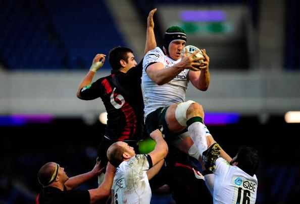London Irish take on Edinburgh in the Rugby Heineken Cup.