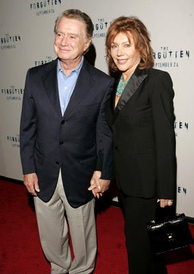 Premiere: Regis Philbin and wife Joy at the New York premiere of Revolution Studios' The Forgotten - 9/21/2004