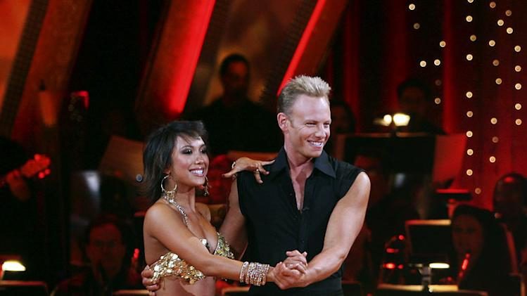 Professional dancer, Cheryl Burke and Ian Ziering perform their fifth dance in the 4th season of Dancing with the Stars.