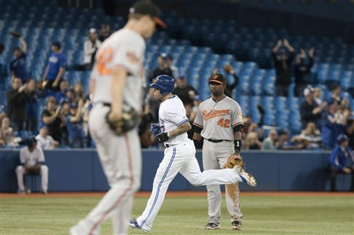 Encarnacion and Lawrie homer, Toronto tops Orioles