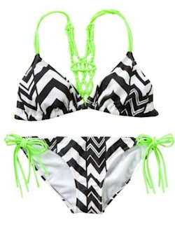 Mudd Chevron Macrame Bikini