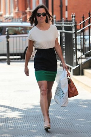 pippa middleton color block dress