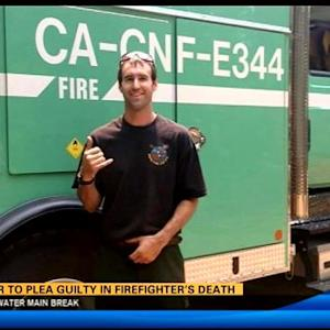 Driver to plead guilty in firefighter's death