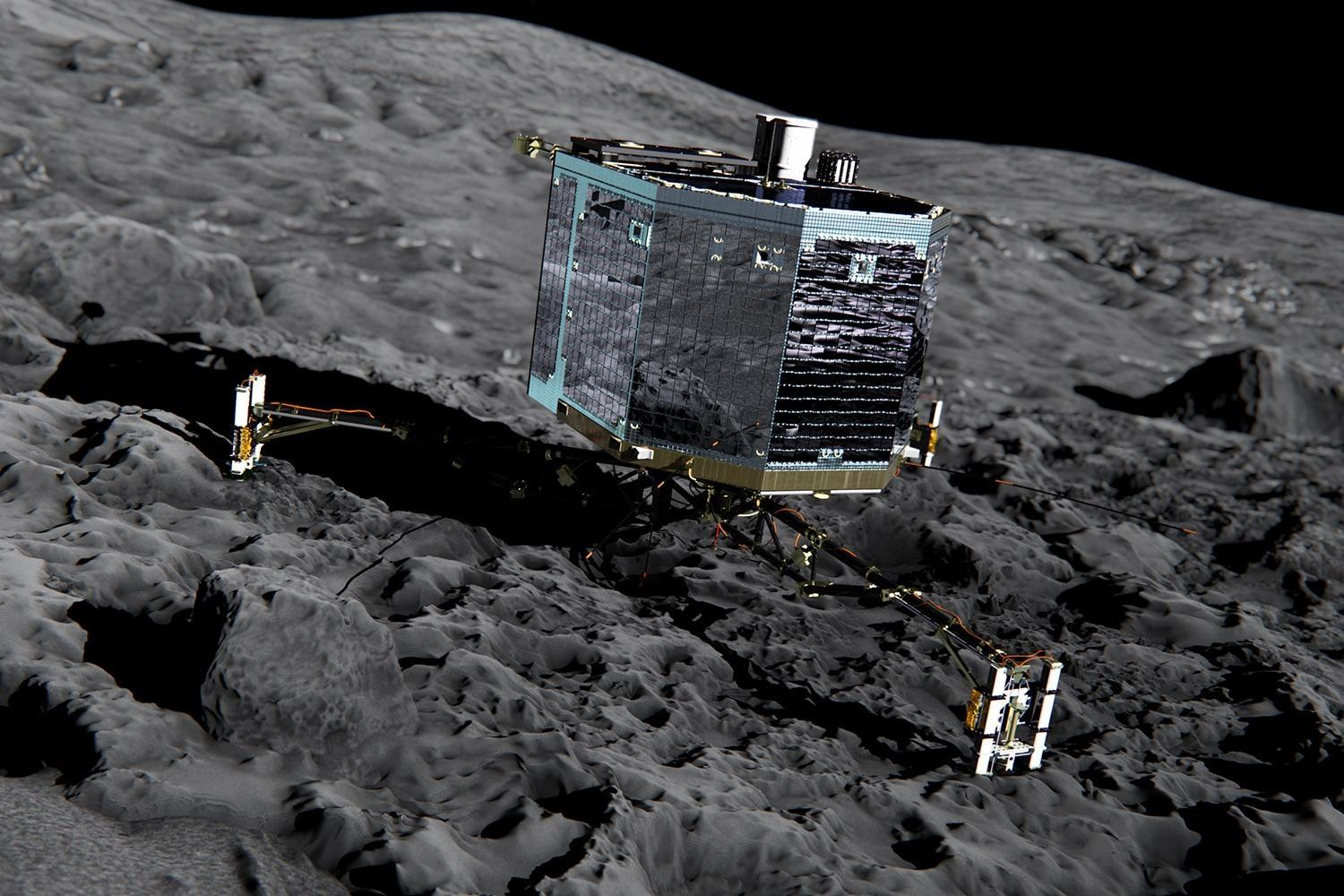 The DLR space agency says its final farewell to the Philae lander