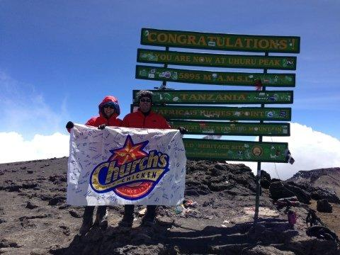 Church's Chicken® CEO Jim Hyatt Reaches New Heights with Climb of Africa's Mt. Kilimanjaro