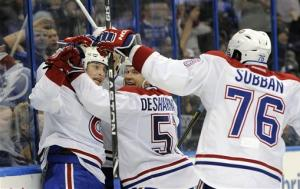 Gallagher's goal lifts Canadiens over Lightning