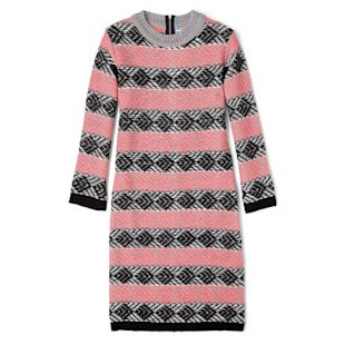 Pink and Black Knitted Jumper Dress, £230, by MSGM