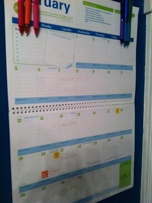 How to use a calendar for home management...