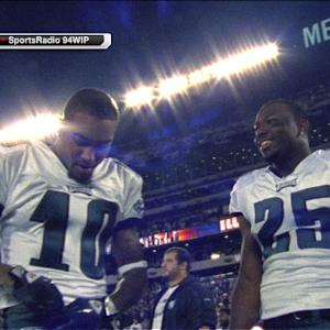 Philadelphia Eagles running back LeSean McCoy uses Cowboys' loss for a laugh