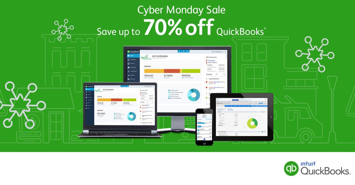 Cyber Monday Promotion: Up to 70% Off QuickBooks™
