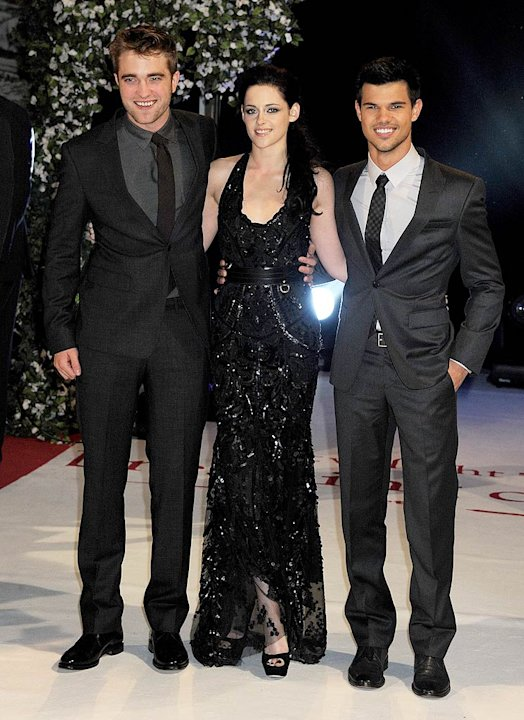 Pattinson Stewart Lautner Twilight Saga Breaking DawnUK Premiere