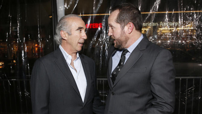 """CEO of MGM Gary Barber and Producer Beau Flynn attend the premiere of """"Hansel & Gretel Witch Hunters"""" on Thursday Jan. 24, 2013, in Los Angeles.  (Photo by Todd Williamson/Invision/AP)"""