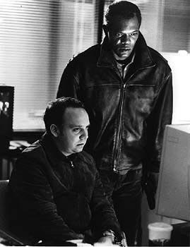 Paul Giamatti and Samuel L. Jackson in Warner Brothers' The Negotiator