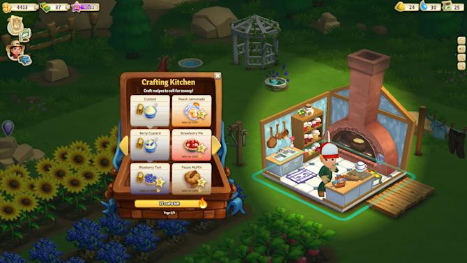 """This undated image provided by Zynga shows a screenshot of Farmville 2, announced on Wednesday, Sept. 5, 2012. Not Long ago, online games company Zynga looked on pace to unseat much bigger, well-established rivals as it rode the popularity of """"FarmVille,"""" the clicking game of virtual cows and real money. But the iPad came along, and more people bought smartphones. People weren't playing Zynga's games on Facebook and computers as much as they used to. (AP Photo/Zynga)"""