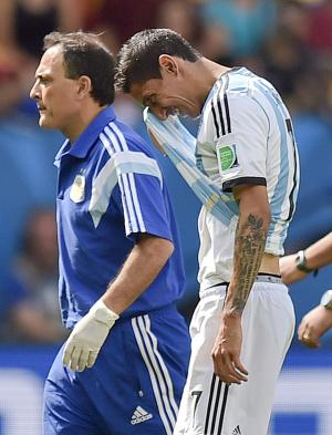 Argentina winger Di Maria in doubt for semifinals