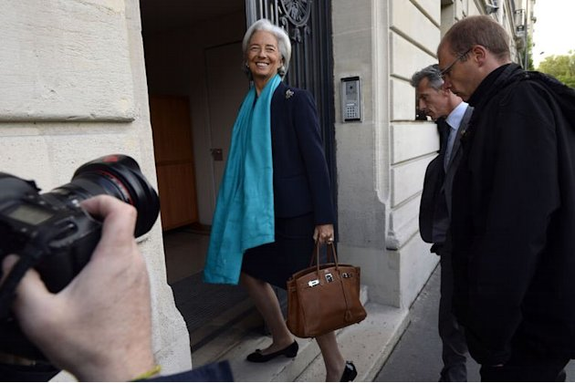 IMF chief Christine Lagarde arrives at the French Republic Justice Court in Paris on May 23, 2013