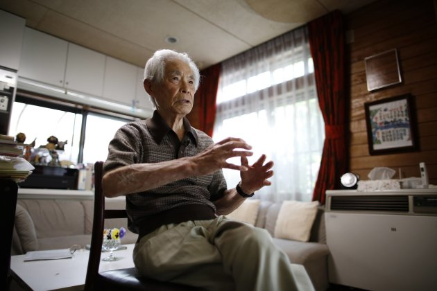 Former Japanese army medic Matsumoto, 91, attends an interview with Reuters in Sagamihara