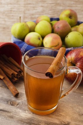 Drink hot apple cider