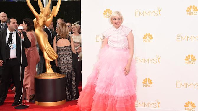 Actress Lena Dunham attends the 66th Annual Primetime Emmy Awards in Los Angeles, August 25, 2014