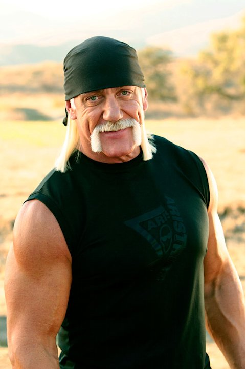 Hulk Hogan co-hosts American Gladiators.