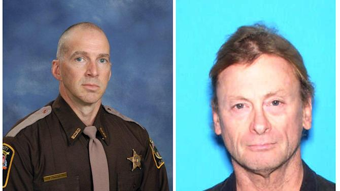CLARIFIES CAPTION - These photos provided by the Baldwin County Sheriffs Department show Michael Jansen, right, of Fairhope, Alabama and Baldwin County Sheriff Deputy Scott Ward. Jansen was shot during an armed confrontation with police Friday Nov. 23, 2012 in Fairhope and Baldwin County Sheriff Deputy Scott Ward, left. Both were killed Friday Nov. 23, 2012. Authorities say the Alabama deputy sheriff was fatally shot and another deputy has been critically wounded while checking on Jansen, who was also killed. (AP Photo/Baldwin County Sheriffs Department)