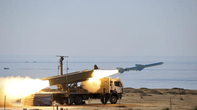 Iran's navy tests cruise missile as part of drill