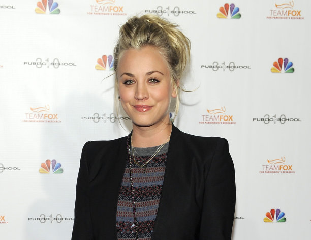 FILE - This Dec. 5, 2012 file photo shows actress Kaley Cuoco at the Raising the Bar to End Parkinsons fundraising event at Public School 310 in Culver City, Calif. Cuoco, a star of CBS&#39; &quot;The Big Bang Theory,&quot; will join William Shatner a new commercial for Priceline, the online travel services company. (Photo by Chris Pizzello/Invision/AP, file)
