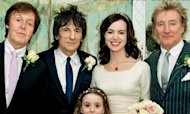 Ronnie Wood&#39;s Wedding Photo With New Wife