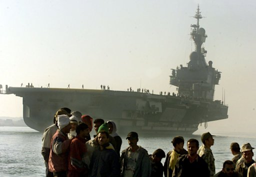 French aircraft carrier Charles de Gaulle Egypt Suez Canal AP