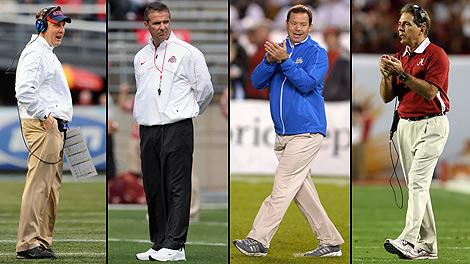 Hugh Freeze Urban Meyer Jim Mora Nick Saban