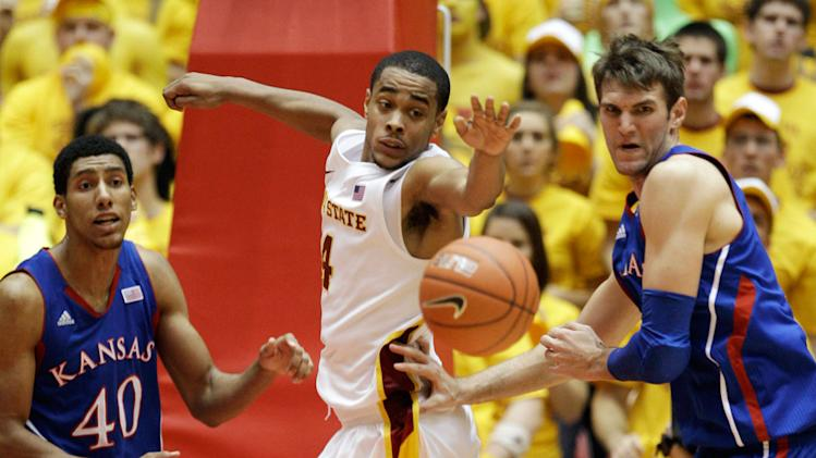 Iowa State stuns No. 5 Kansas, 72-64