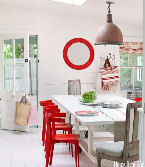 Cheery Red Accents
