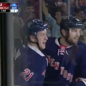 Derek Stepan Goal on Cory Schneider (18:14/1st)