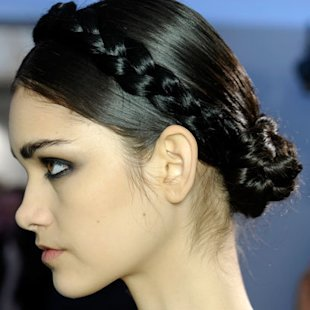 Moschino SS12 Backstage: Halo Braid Hair Trend