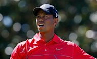Tiger Woods reacts to a poor tee shot on the fifth hole during the final round of the TOUR Championship by Coca-Cola at East Lake Golf Club on September 23, in Atlanta, Georgia. World No. 1 Rory McIlroy and No. 2 Woods are set to lead their Ryder Cup teams this week after final-round fades cost them a chance at a $10 million US PGA playoff prize